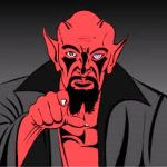 bahasa-inggris-iblis-satan-devil Logo Icon PNG